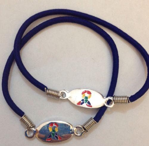 2 Autism Awareness Stretch Bracelets - The House of Awareness