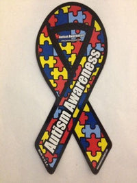 "Autism Awareness Large Ribbon Magnet 4"" x 8"" - The House of Awareness"