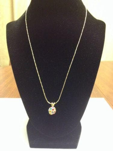 Multi Colored Rhinestone Crystal Necklace - The House of Awareness