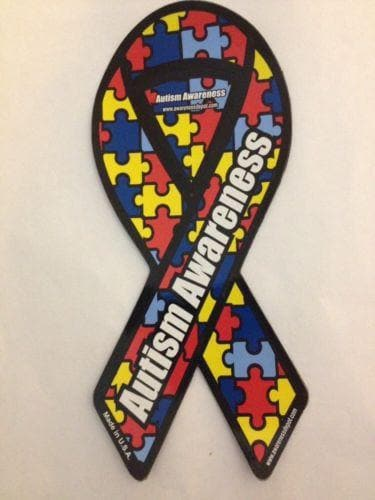 Autism Awareness Large Ribbon Magnet 4
