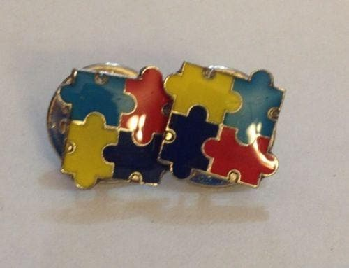 2 Autism Awareness Puzzle Tack Pins , Pins & Brooches - The House of Awareness, The House of Awareness  - 1