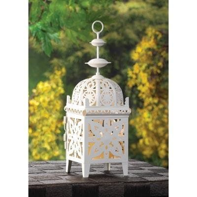 White Filigree Candle Lantern - The House of Awareness