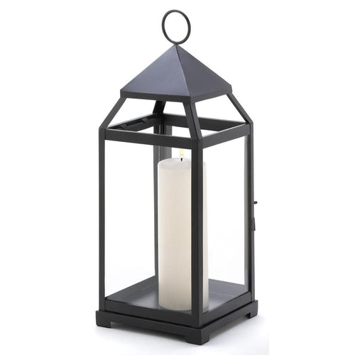 Large Black Contemporary Candle Lantern - The House of Awareness