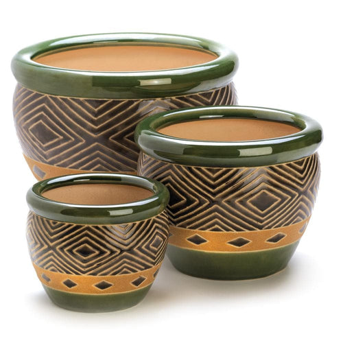 Hunter Tribal Planter Trio - The House of Awareness