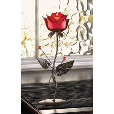 Red Rose Candle Holder - The House of Awareness