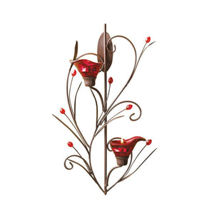 Red Delicate Tealight Candle Sconce - The House of Awareness