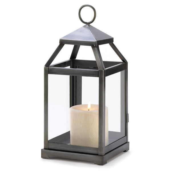 Rustic Silver Candle Lantern , Candle Lanterns - Home Locomotion, The House of Awareness
