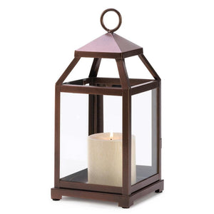 Bronze Contemporary Lantern - The House of Awareness