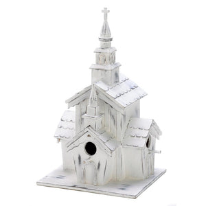 Little White Chapel Birdhouse - The House of Awareness