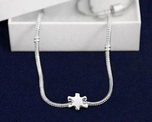 Autism Awareness Necklace with Puzzle Piece - The House of Awareness