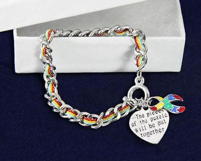 Autism Awareness Ribbon Bracelet-Multi-Colored Rope , Bracelets - The House of Awareness, The House of Awareness  - 1