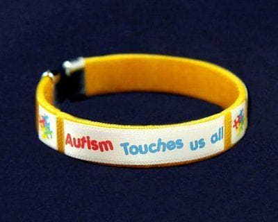 Autism ASD Touches Us Bangle Bracelet - The House of Awareness