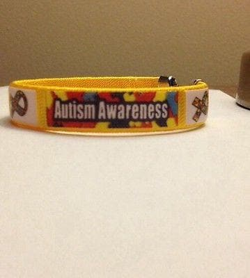 Fabric Autism and Asperger Awareness Bangle Bracelet - The House of Awareness