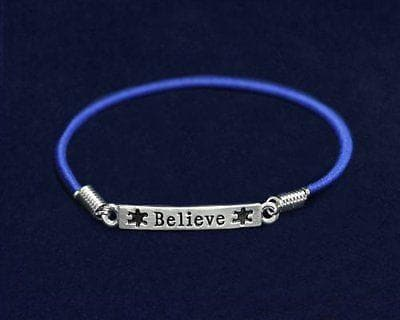 Mental Health Awareness Believe Stretch Charm Bracelet , Bracelets - The House of Awareness, The House of Awareness  - 2