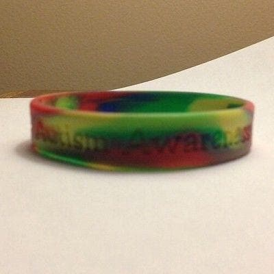Multi Colored Autism And Asperger Awareness Puzzle Silicone ADULT Bracelet - The House of Awareness