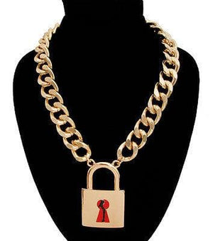 Body Silhouette Lock Chain Necklace - The House of Awareness