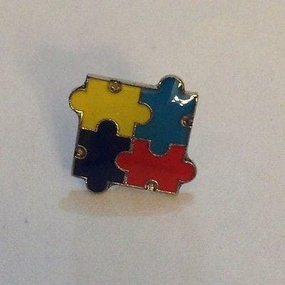 2 Autism Awareness Puzzle Tack Pins , Pins & Brooches - The House of Awareness, The House of Awareness  - 3
