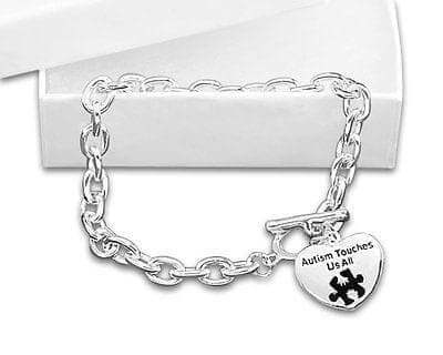 Autism Awareness Bracelet - Autism Touches Us All , Bracelets - The House of Awareness, The House of Awareness  - 1