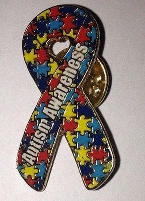 2 Autism and Aspergers Awareness Puzzle Pins - The House of Awareness