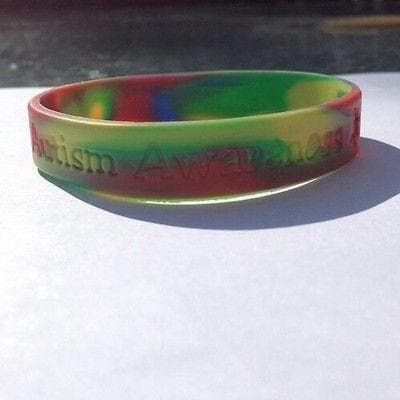 Multi Colored Autism And Asperger Awareness Puzzle Silicone ADULT Bracelet , Bracelets - The House of Awareness, The House of Awareness  - 1