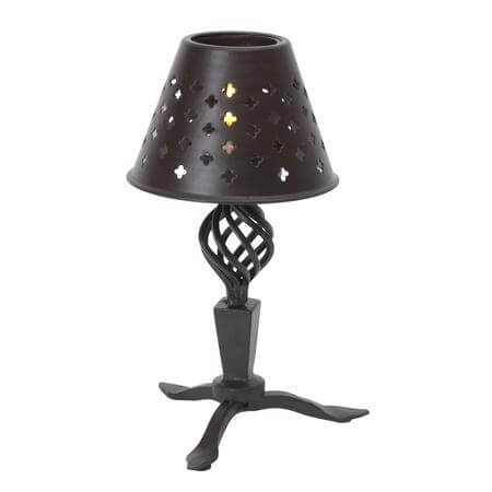 8 Inch Iron Black Candle Lamp