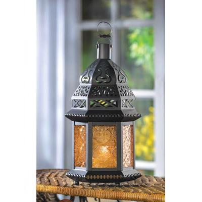 Yellow Glass Moroccan Lantern , Moroccan Candleholders - Home Locomotion, The House of Awareness  - 2