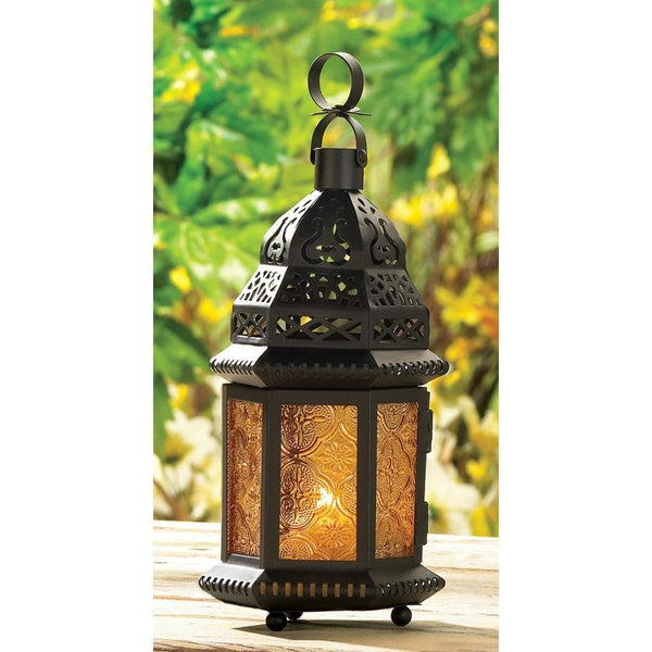 Yellow Glass Moroccan Lantern , Moroccan Candleholders - Home Locomotion, The House of Awareness  - 3