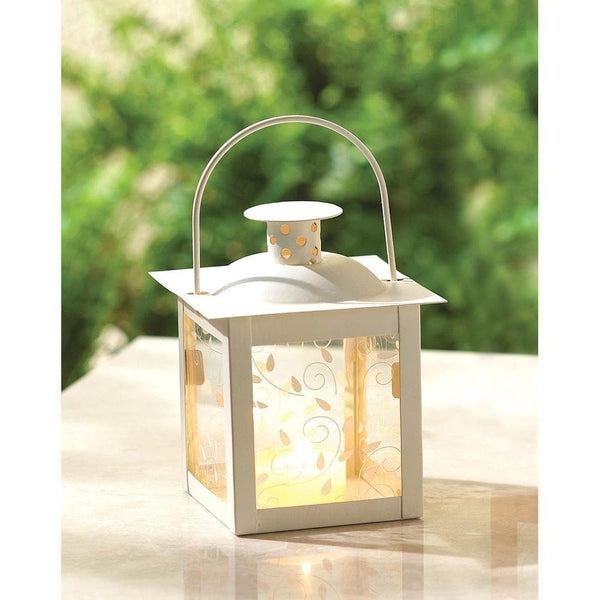 Small White Lantern , Candle Lanterns - Home Locomotion, The House of Awareness  - 2