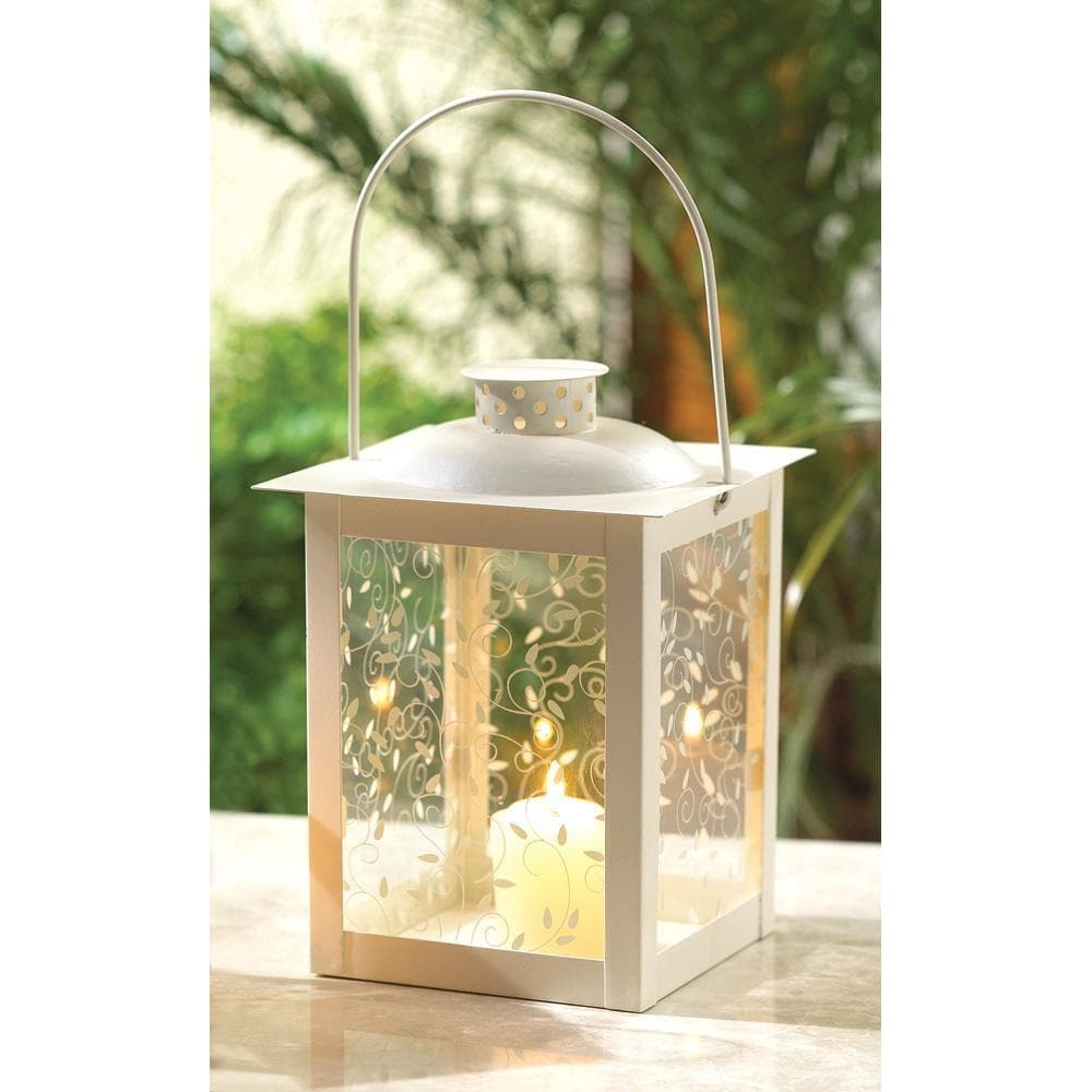 Large White Lantern for your Garden - The House of Awareness