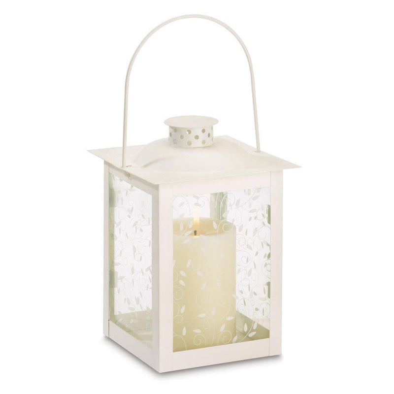 Set of 2 Tall Ivory Vine Lanterns - The House of Awareness