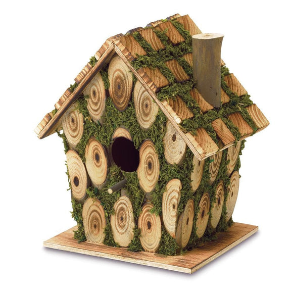 Moss-edged Bird House - The House of Awareness