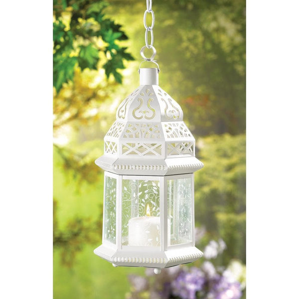 Large White Moroccan Lantern , Moroccan Candleholders - Home Locomotion, The House of Awareness  - 2