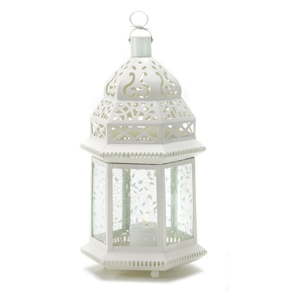 Large White Moroccan Lantern , Moroccan Candleholders - Home Locomotion, The House of Awareness  - 1