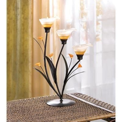 Amber Lilies Tealight Holder - The House of Awareness