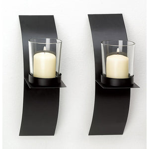 Mod-art Candle Sconce Duo - The House of Awareness