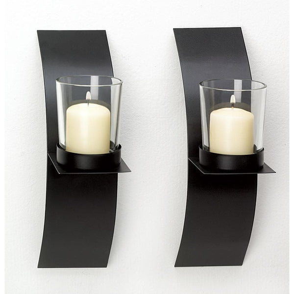 Mod-art Candle Sconce Duo , More Candleholders - Home Locomotion, The House of Awareness