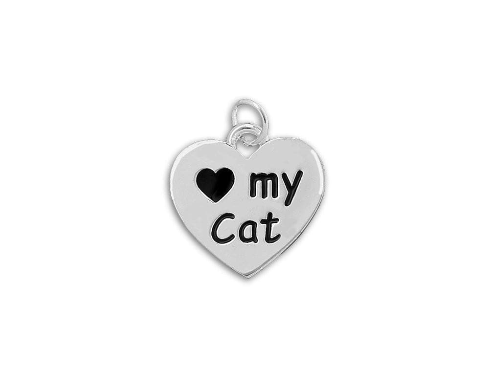"""Love My Cat"" Heart Charm - The House of Awareness"