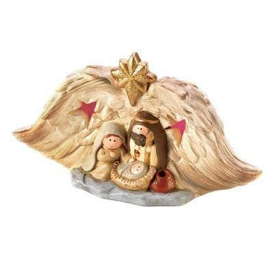 Light-up Golden Nativity - The House of Awareness