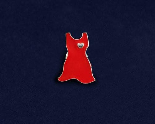 Small Red Dress Pin for Heart Disease - The House of Awareness