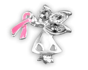 Breast Cancer Pin - Angel By My Side - The House of Awareness