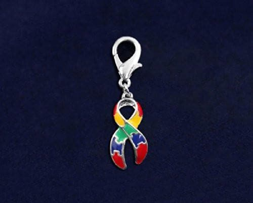 Autism Ribbon Hanging Charm - Large - The House of Awareness