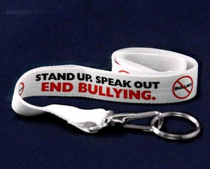"Anti-Bullying Awareness ""Stand Up Speak Up"" Lanyard"