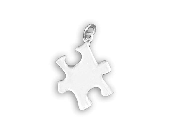 Autism Ribbon Puzzle Piece Charm - The House of Awareness