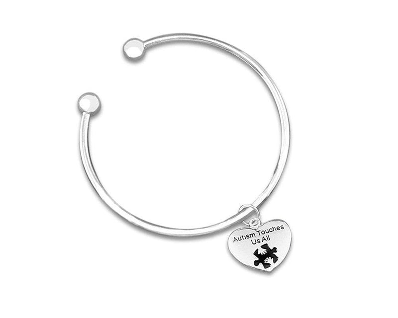 Autism Touches Us All Bangle Bracelet - The House of Awareness
