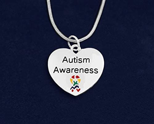 Autism Awareness Heart Necklace - The House of Awareness