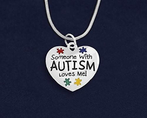 """Someone With Autism Loves Me"" Necklace - The House of Awareness"
