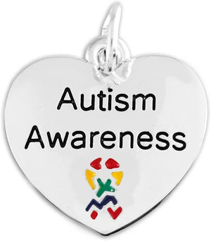 Autism Awareness Heart Charm - The House of Awareness
