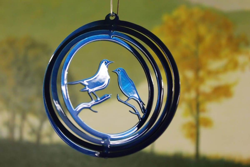 "4"" Blue Lovebird Wind Spinner - The House of Awareness"