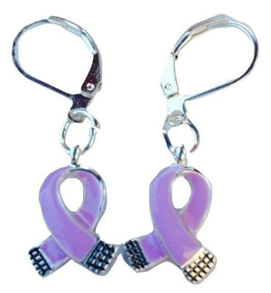 Purple Charm Earrings for many Causes