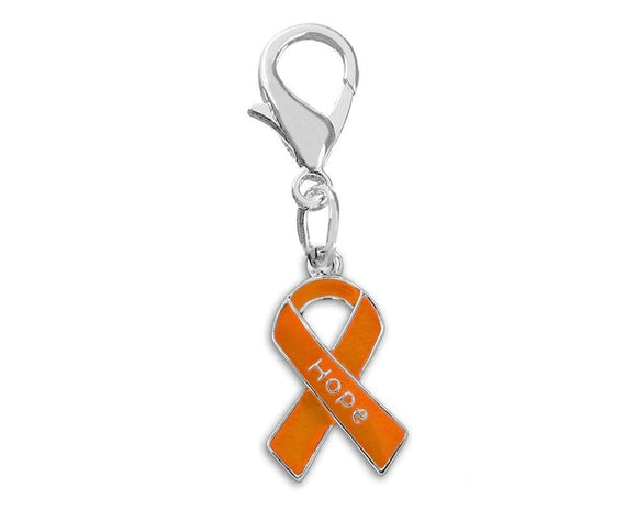 Orange Ribbon Hope Hanging Charm for Cancer - The House of Awareness